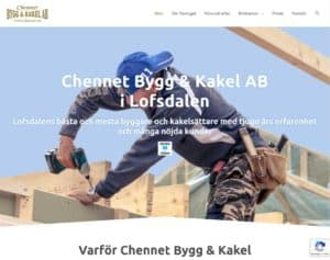 Chennet Bygg & Kakel webbsida 2020.